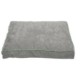 "Dog Gone Smart Chenille Bed Grey w/ Blue Trim 26"" x 34"""