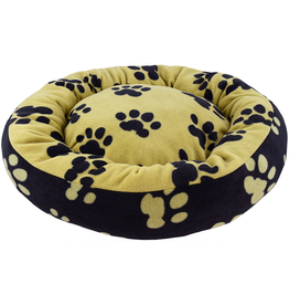 Unleashed Donut Paw Print Bed