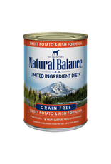 Natural Balance Natural Balance LID GF Fish & Sweet Potato [DOG] 13OZ