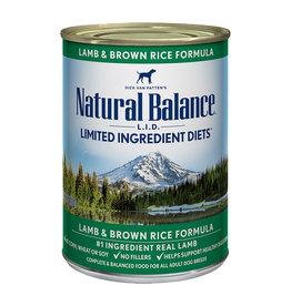 Natural Balance Natural Balance LID GF Lamb & Brown Rice [DOG] 13OZ