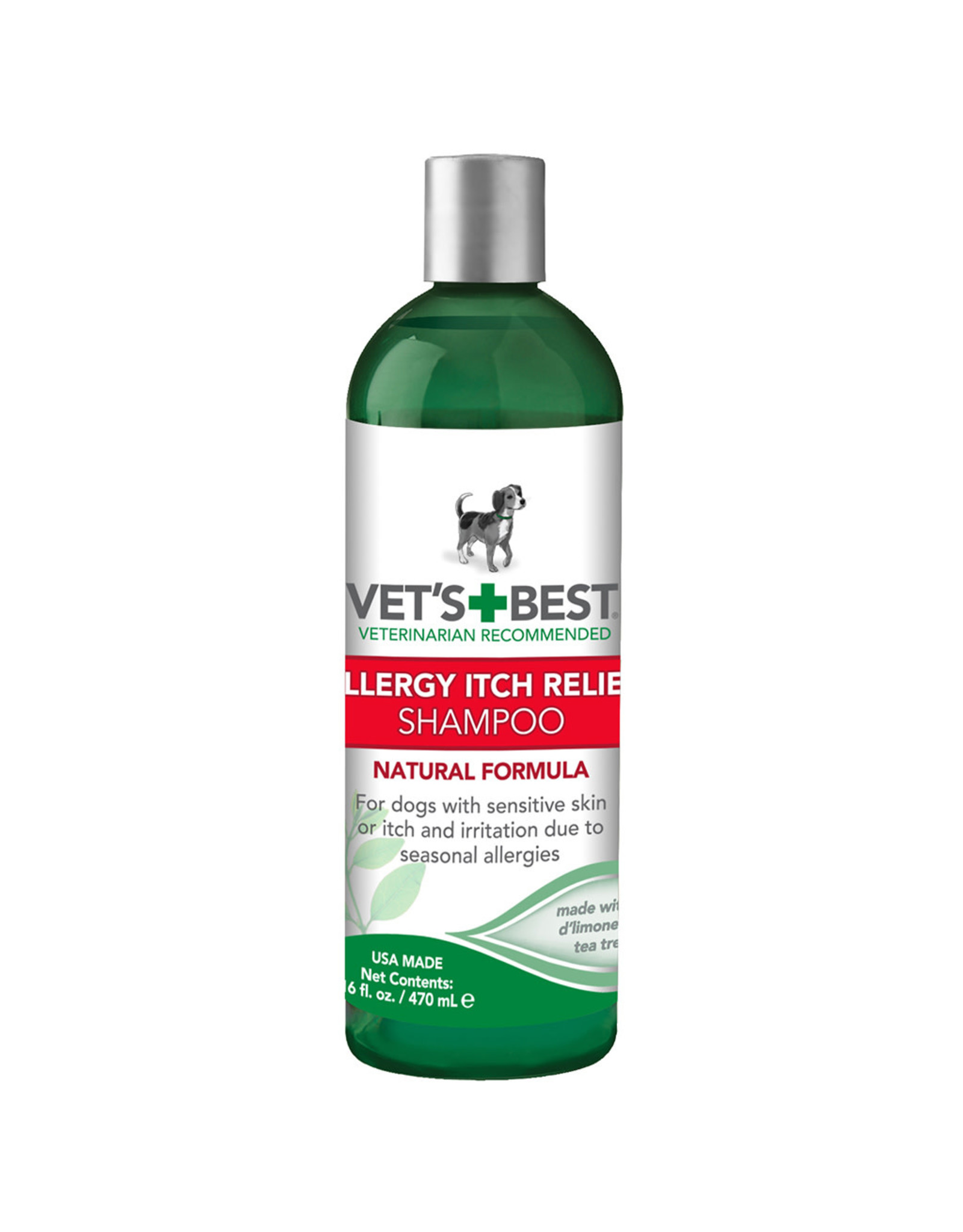Vets Best Allergy Itch Relief Shampoo 16 OZ