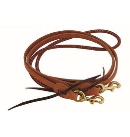 """Western Rawhide Rolled Latigo Barrel Reins - Harness Leather 5/8"""""""