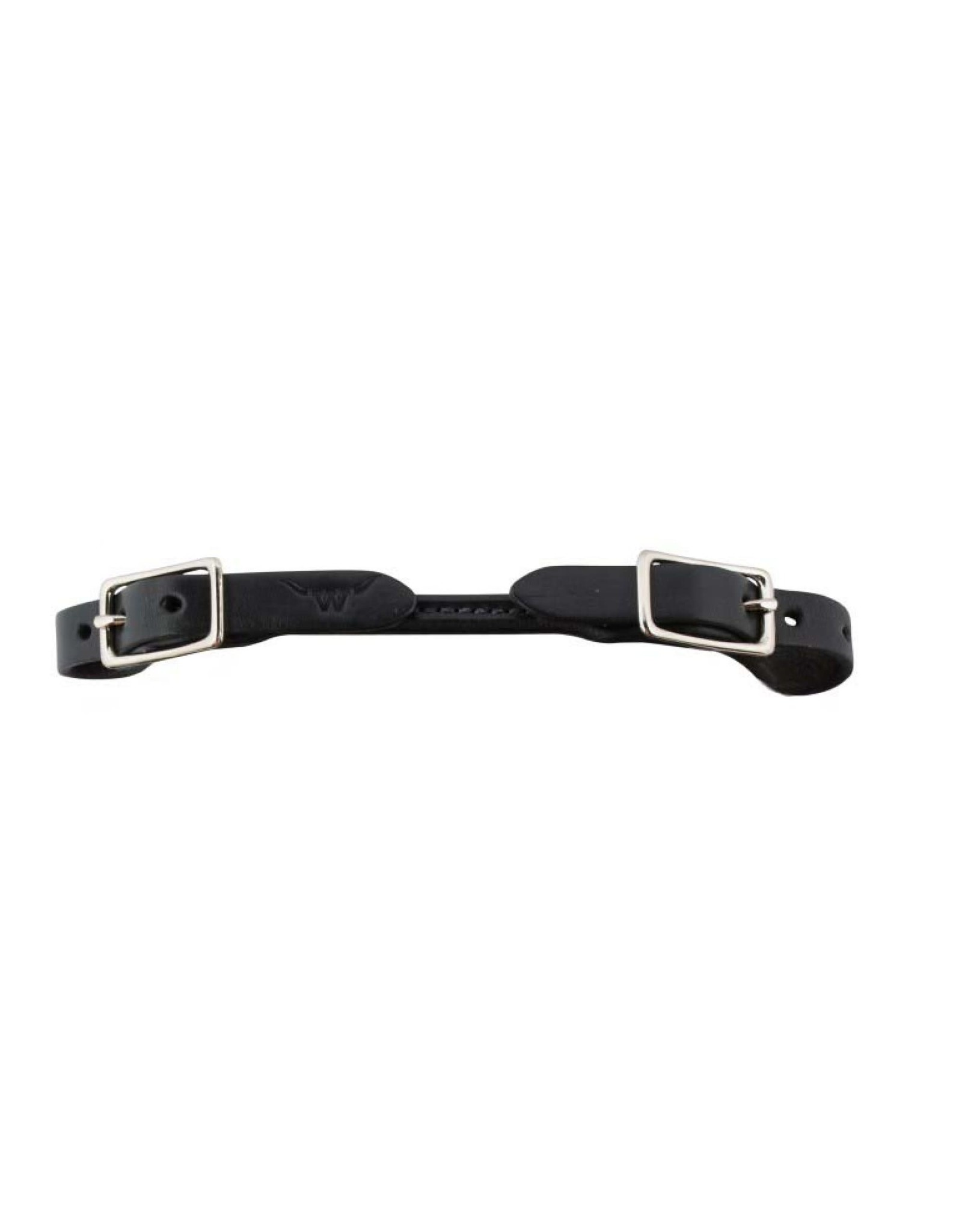 Western Rawhide Rounded Curb Strap