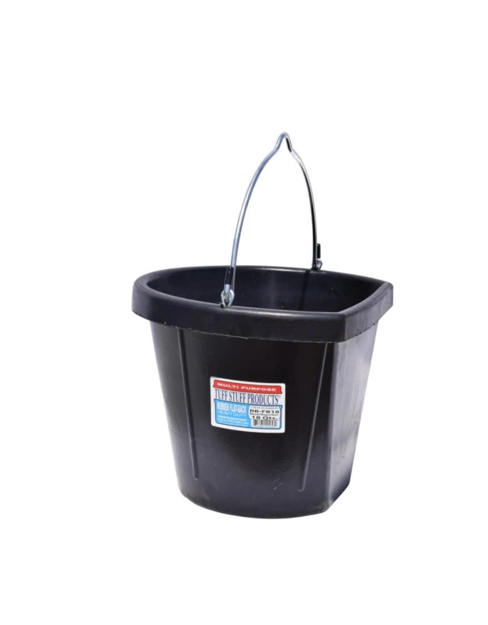 Tuff Stuff Flatback Rubber Bucket