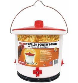 Miller Heated Plastic Poultry Drinker 2 GAL