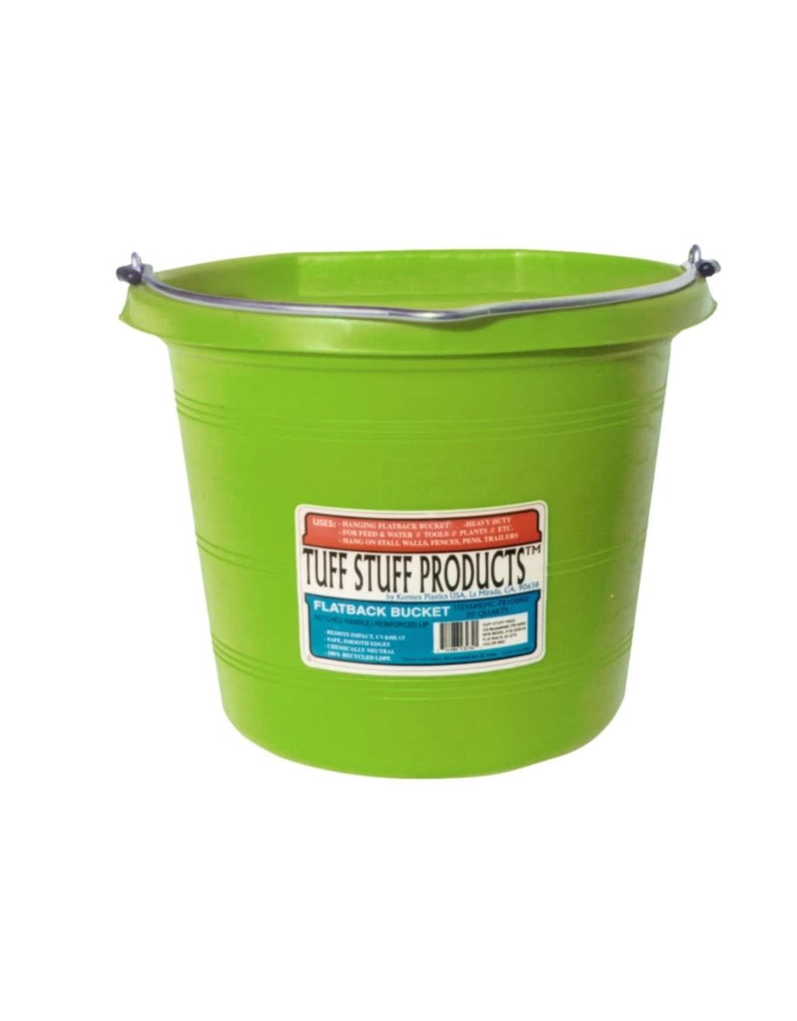Tuff Stuff Plastic Flatback Bucket