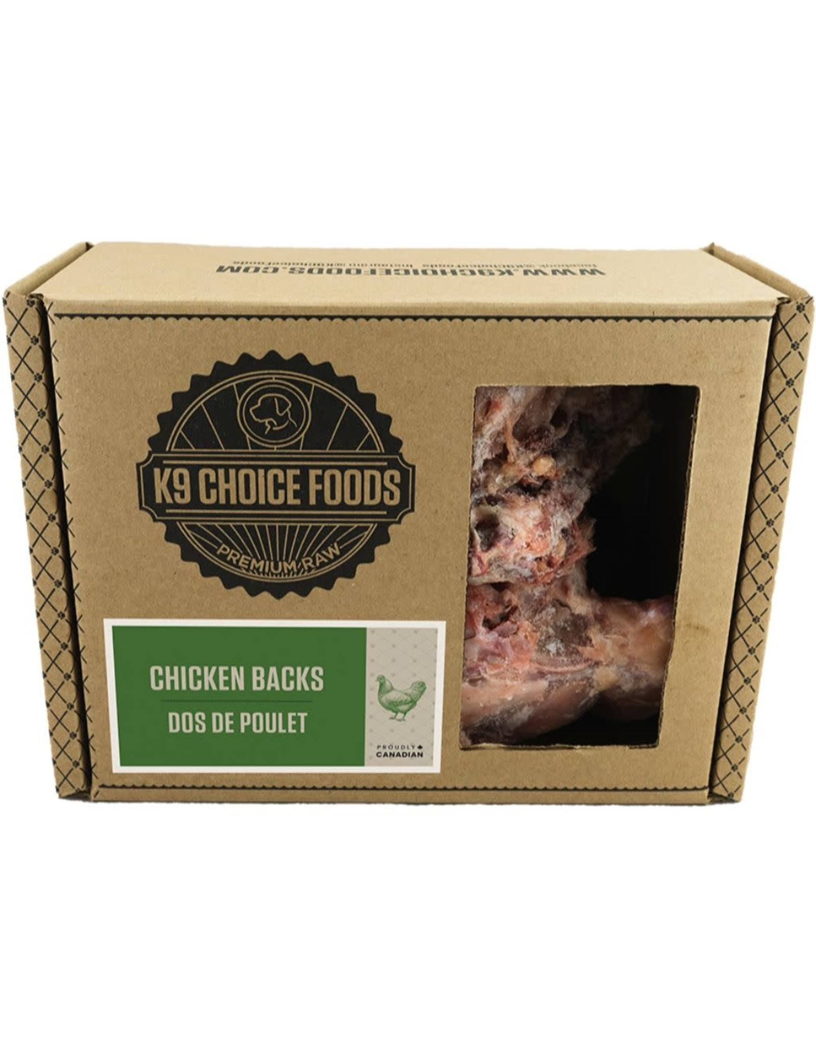 K9 Choice K9 Choice Frozen - Chicken Backs 2 LB