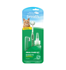 Fresh Breath by TropiClean TropiClean Fresh Breath Oral Care Brushing Kit [CAT] 2oz