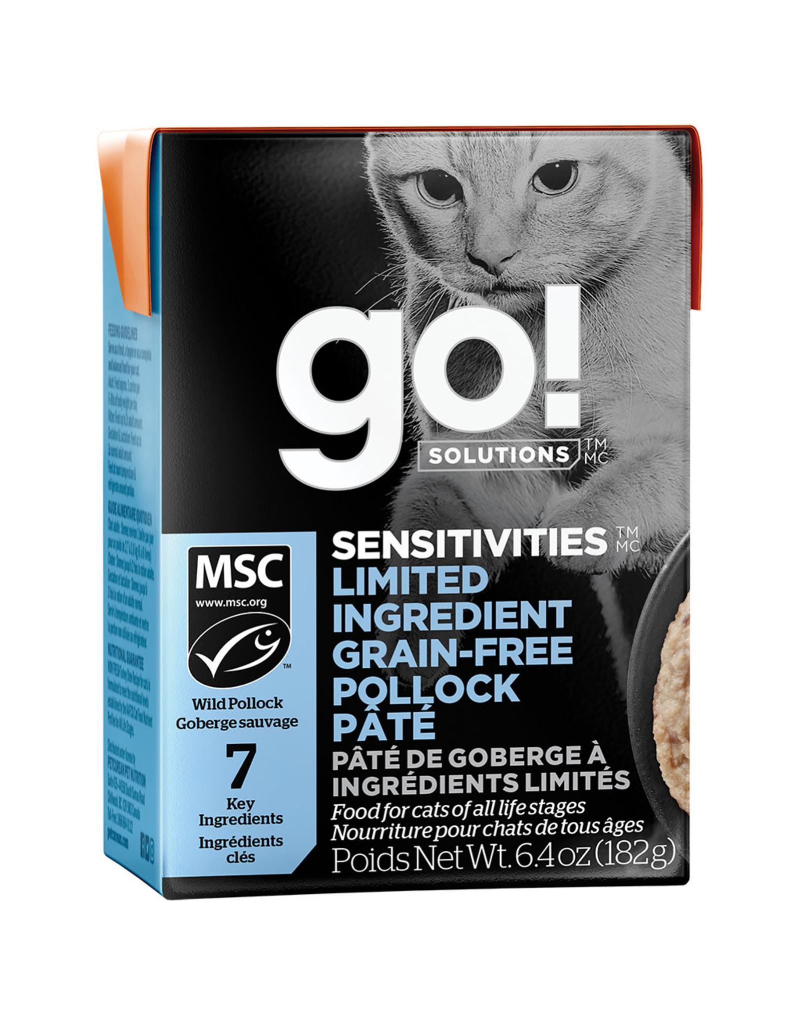 Petcurean GO! Sensitivites LID GF Pollock Pate [CAT] 6.4OZ