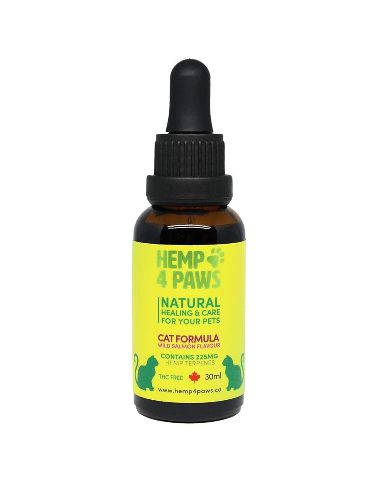 Hemp 4 Paws Hemp Seed Oil Wild Salmon Flavour 225MG/30ML [CAT]