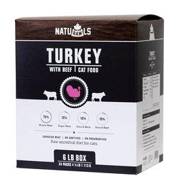 Naturawls Naturawls Frozen - Raw Turkey & Beef [CAT] 24 x 113 GM