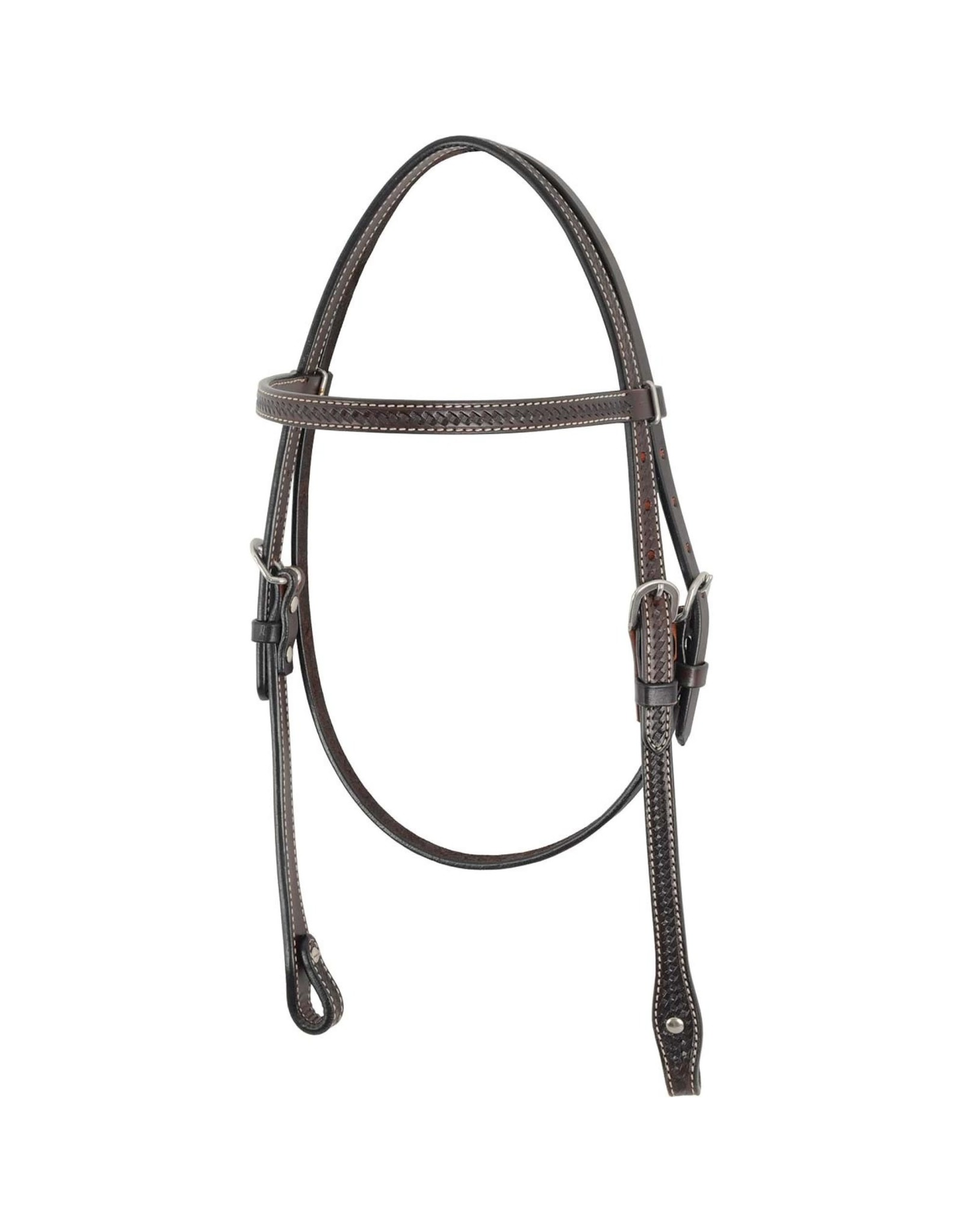 Country Legend Browband Headstall w/ Basket Tooling