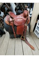 """16"""" Western Saddle w/ Front Cinch, Back Cinch & Breastcollar"""