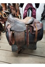"""15"""" King of Texas Western Saddle w/ Front Cinch, Back Cinch, Breastcollar & Saddle Bags"""