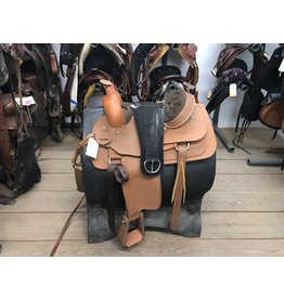 """15"""" Lami-Cell Western Saddle with Breastplate & Front Cinch"""