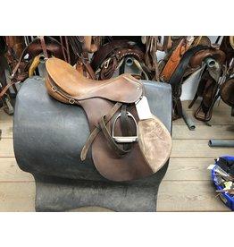 """18"""" Passier English Saddle w/ Stirrup Irons & Stirrup Leathers"""