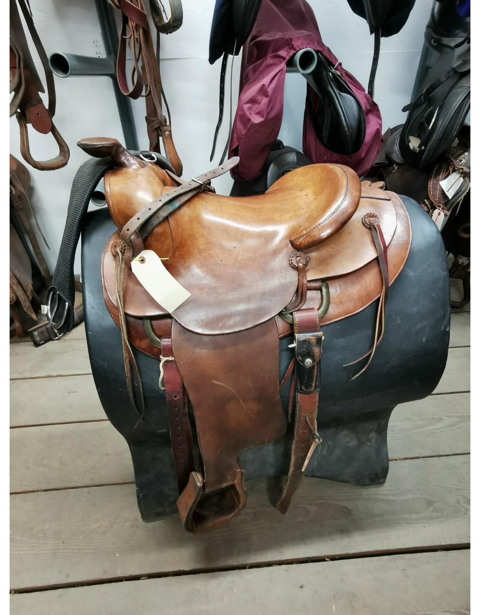 """15"""" Western Saddle w/ Front Cinch, Back Cinch & Breastcollar"""