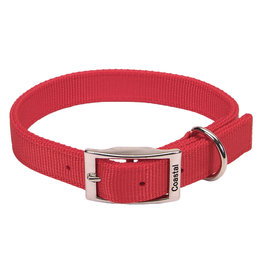 """Coastal Pet Products Nylon Double-Ply Collar 1"""" Red 26"""""""