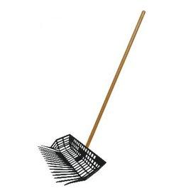 Manure Basket Fork w/ Wooden Handle