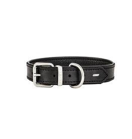 EzyDog Oxford Leather Collar Black Small