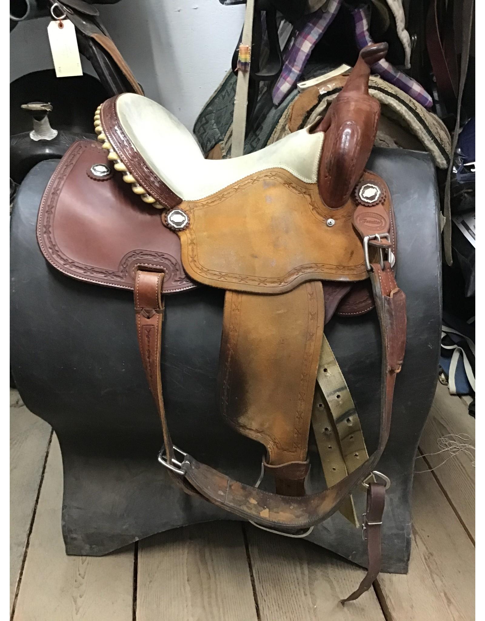 "15"" Frontier Barrel Saddle w/ Back Cinch"
