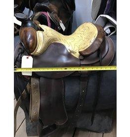 """15"""" Western Saddle w/ Front & Rear Cinch"""