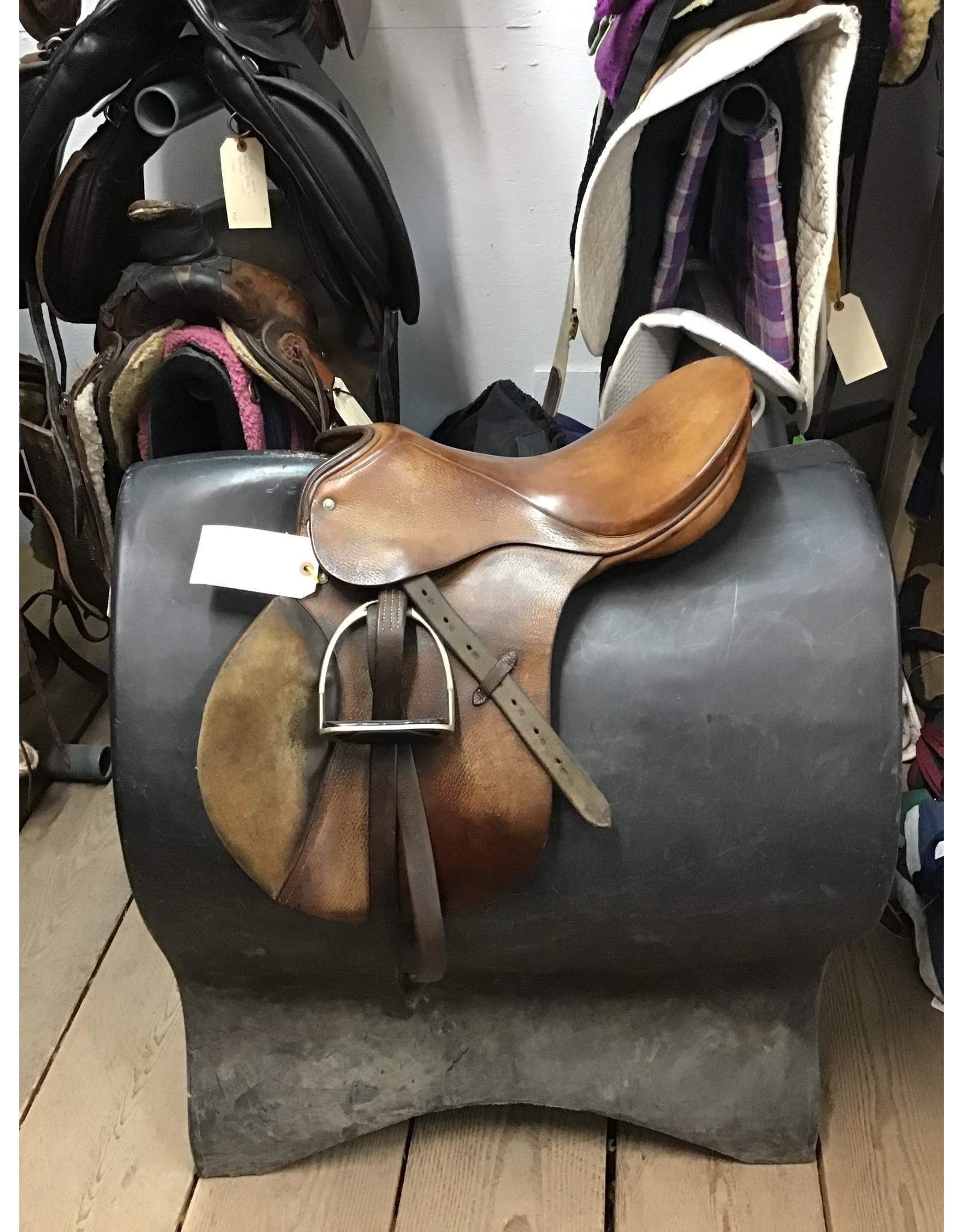 """17"""" Passier Hannover Saddle w/ Stirrup Leathers & Irons"""