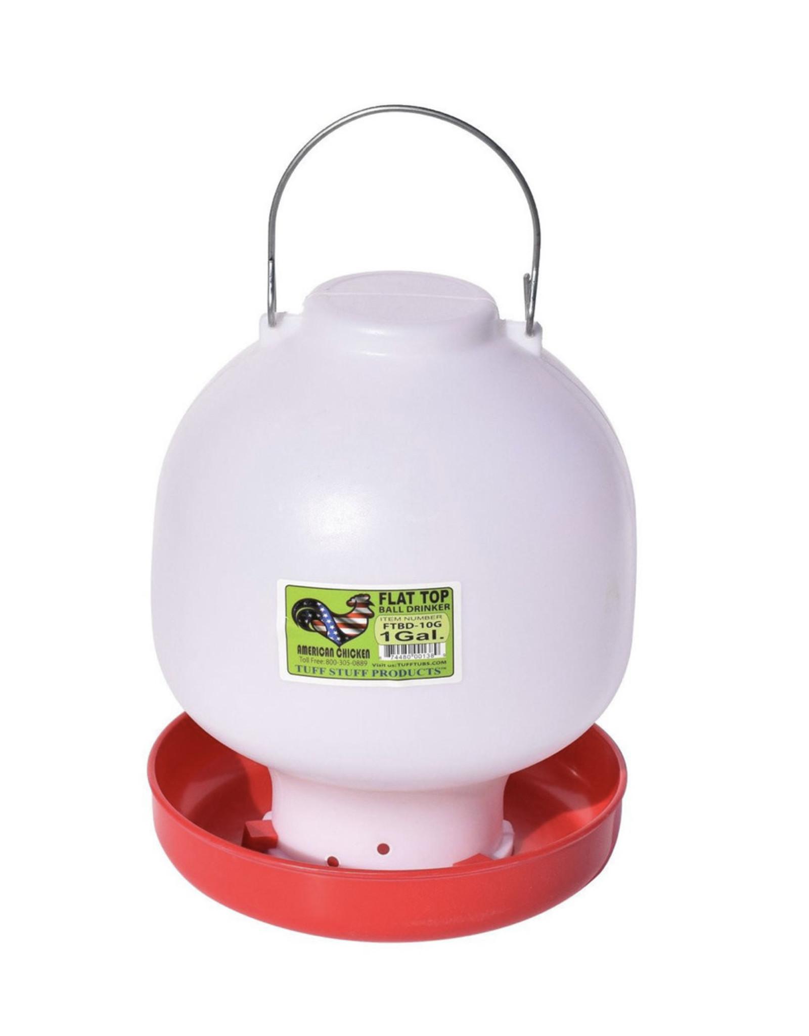 Tuff Stuff Plastic Flat Top Ball Drinker 1 GAL
