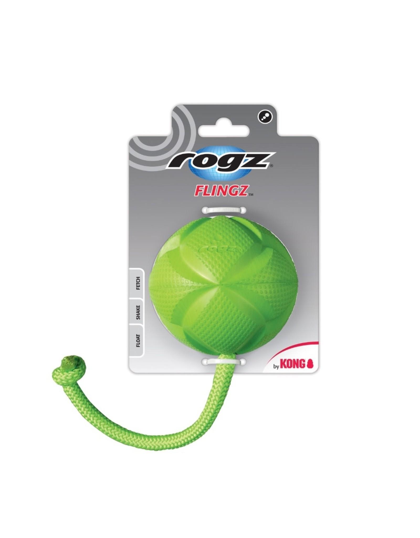 Rogz by Kong Rogz Flingz Ball with Rope LG