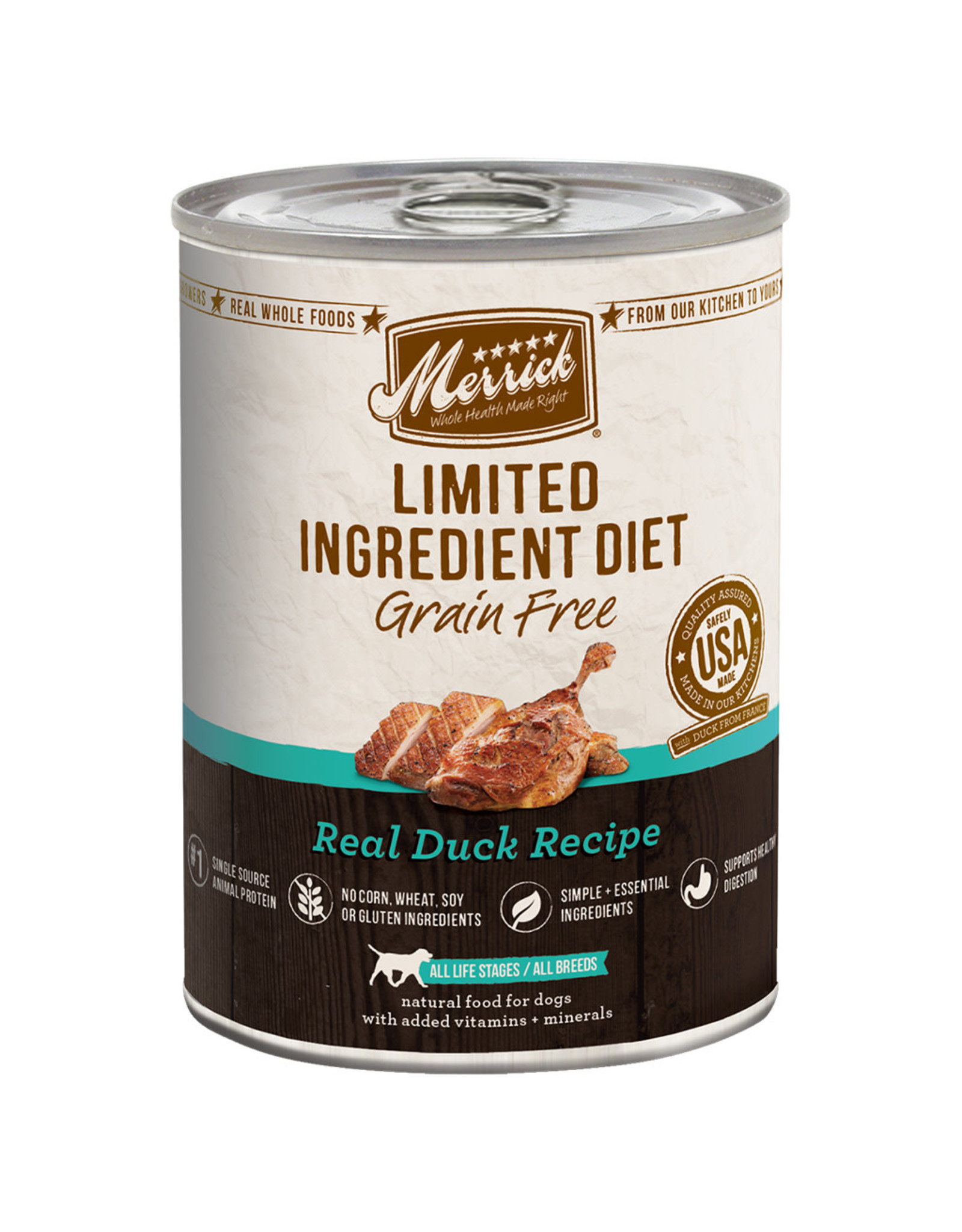 Merrick Merrick GF Real Duck Recipe [DOG] 12.7OZ