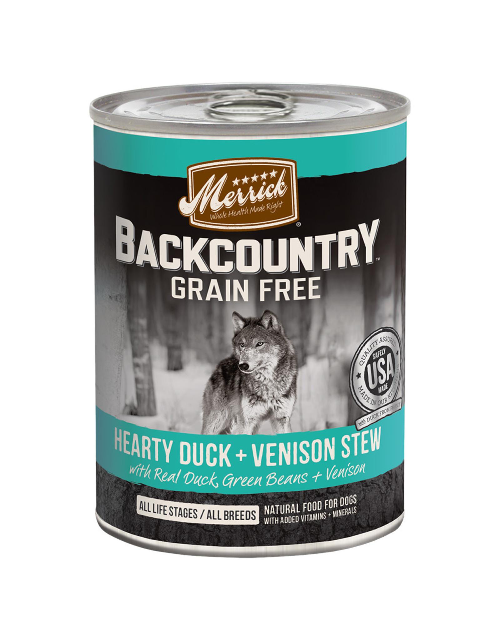 Merrick Merrick GF Hearty Duck & Venison Stew [DOG] 12.7OZ