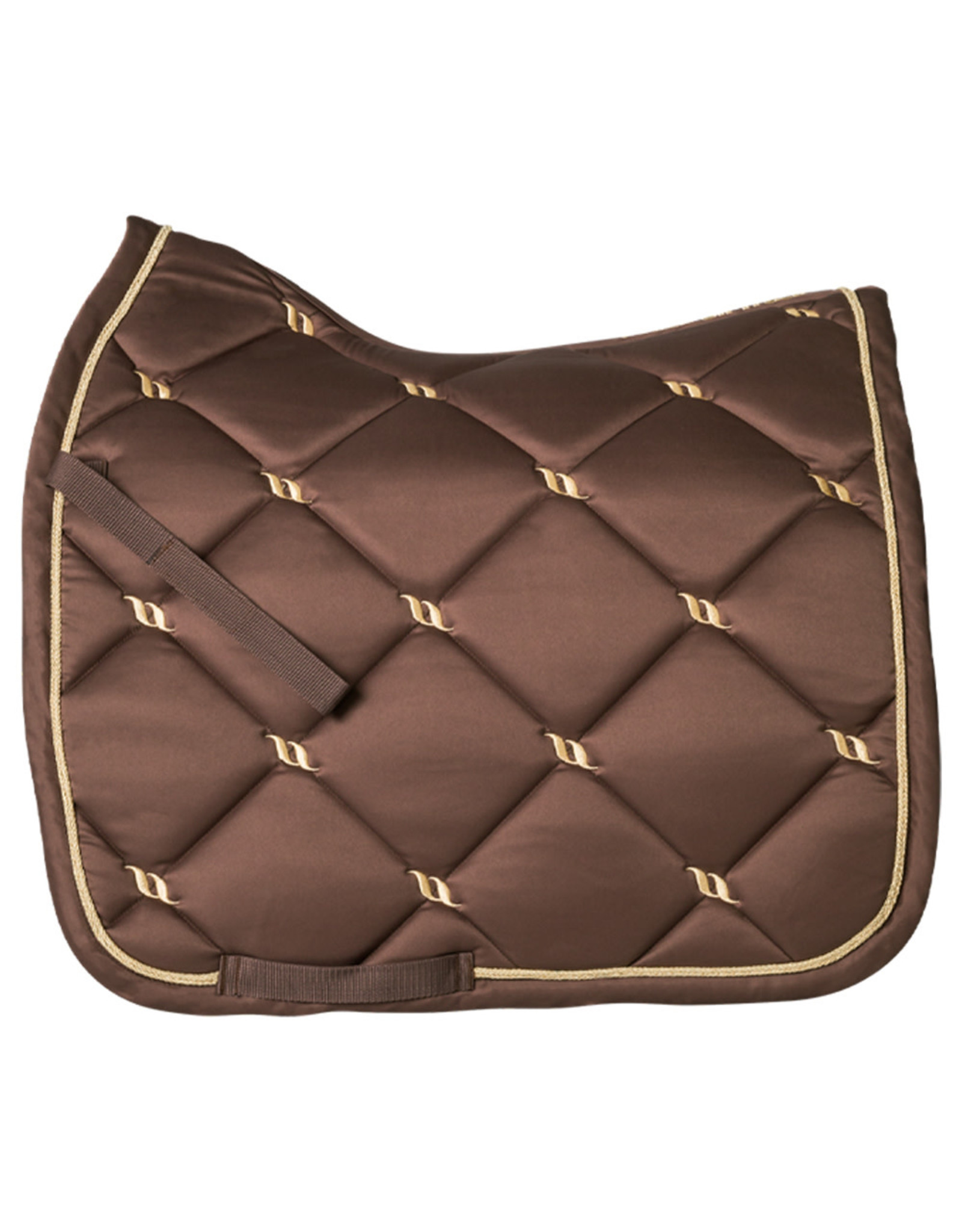 Back On Track Back On Track Nights Collection Dressage Saddle Pad Coffee