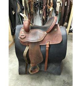 """15"""" Barrel Saddle w/ Front & Back Cinch"""