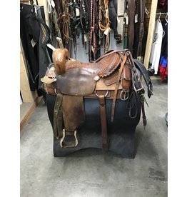 """16"""" Western Saddle w/ Front, Rear Cinches & Breastcollar"""