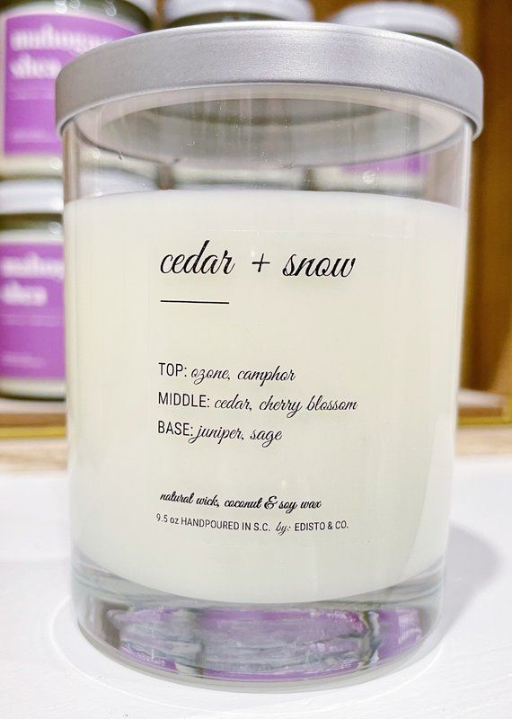 Cedar & Snow Coconut & Soy Candle