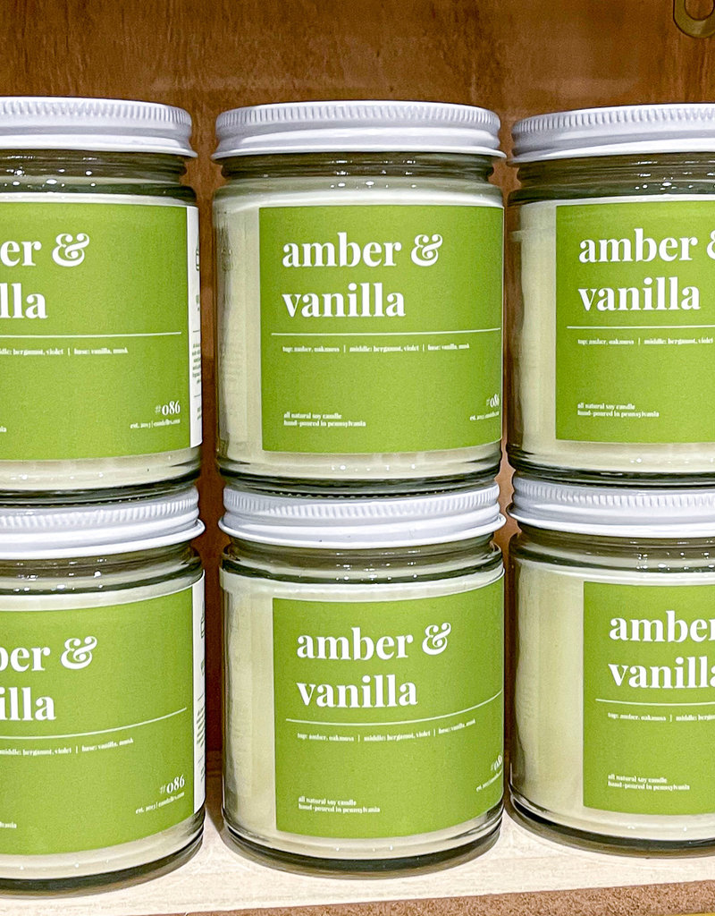 Amber & Vanilla Soy Candle