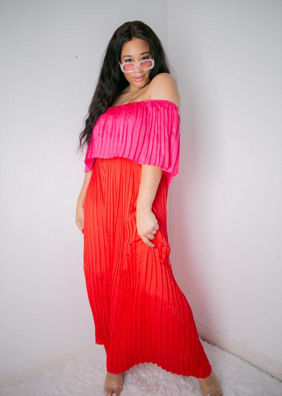 Josephine Satin Maxi Dress