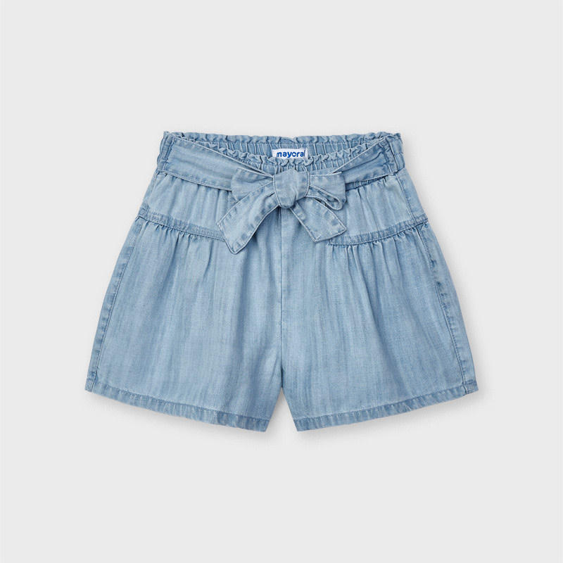 Mayoral Mayoral Denim Shorts with Bow