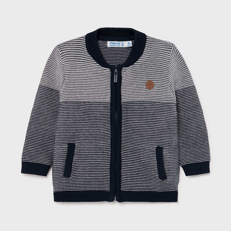 Mayoral Mayoral Striped Zipper Sweater