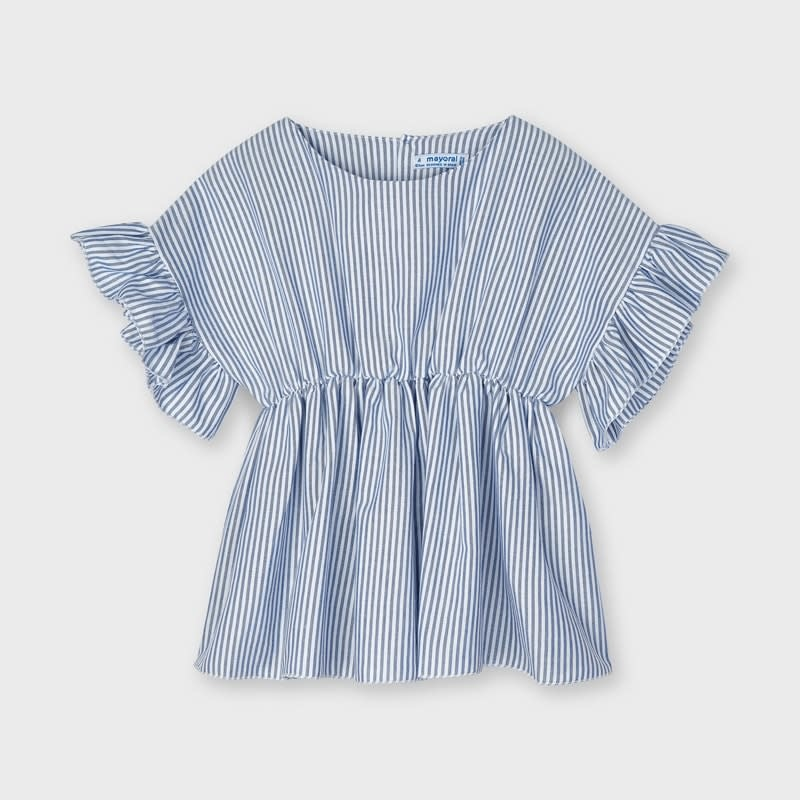 Mayoral Mayoral Blouse with Ruffle Sleeves