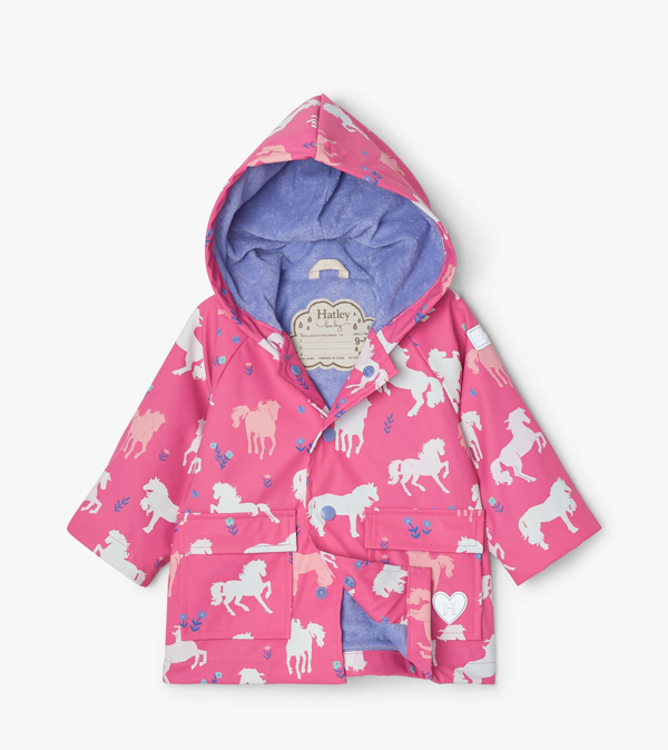 Hatley Hatley Painted Pasture Color Changing Baby Raincoat