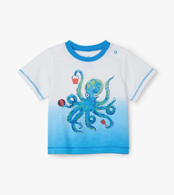 Hatley Hatley Playful Octopus Baby Graphic Tee