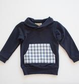 Thimble Thimble Shawl Collar Sweatshirt - BROO91330