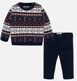 Mayoral Mayoral Jacquard Sweater Set