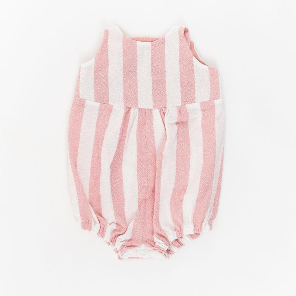 Thimble Thimble Knotted Romper - Rose Stripe