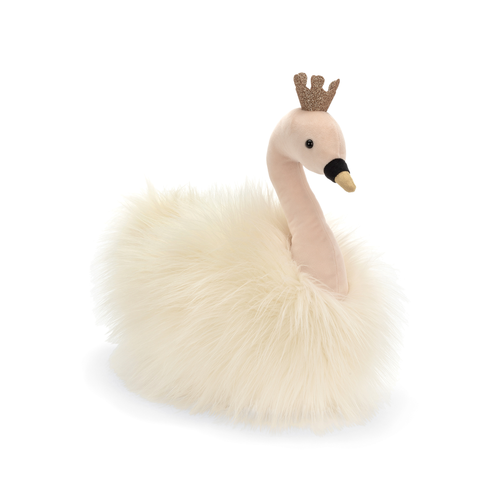 JellyCat Jelly Cat Fancy Swan Fluffy