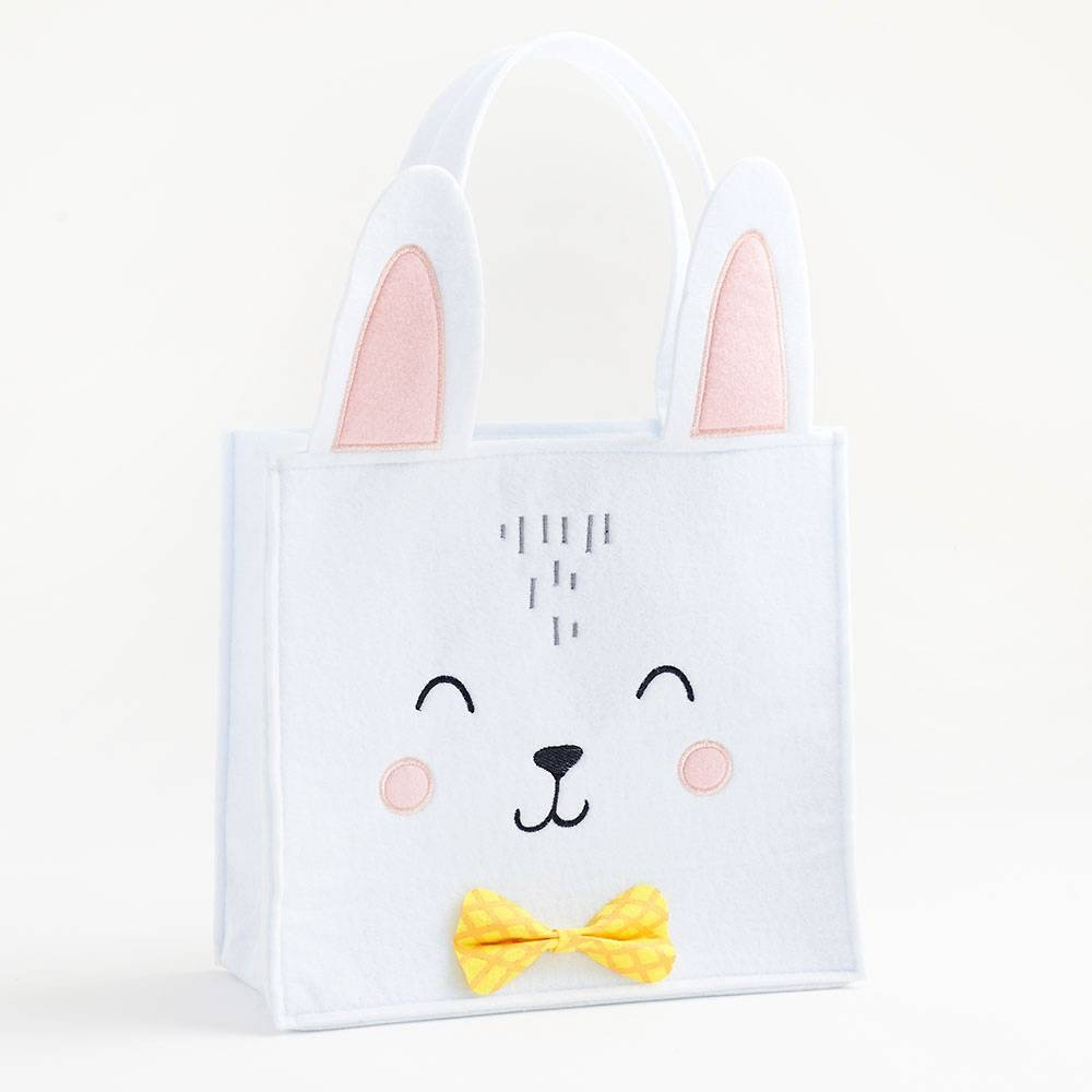Bunny with Bowtie Basket