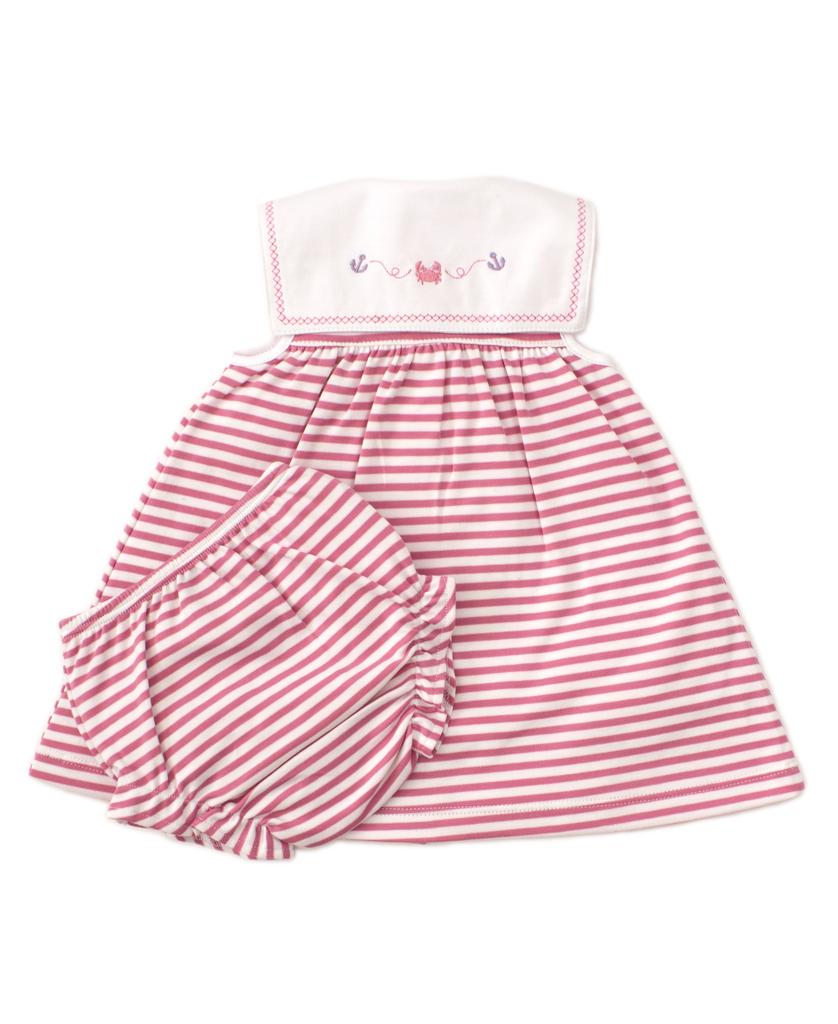 kissy kissy Kissy Kissy Crab Craze Dress with Diaper Cover