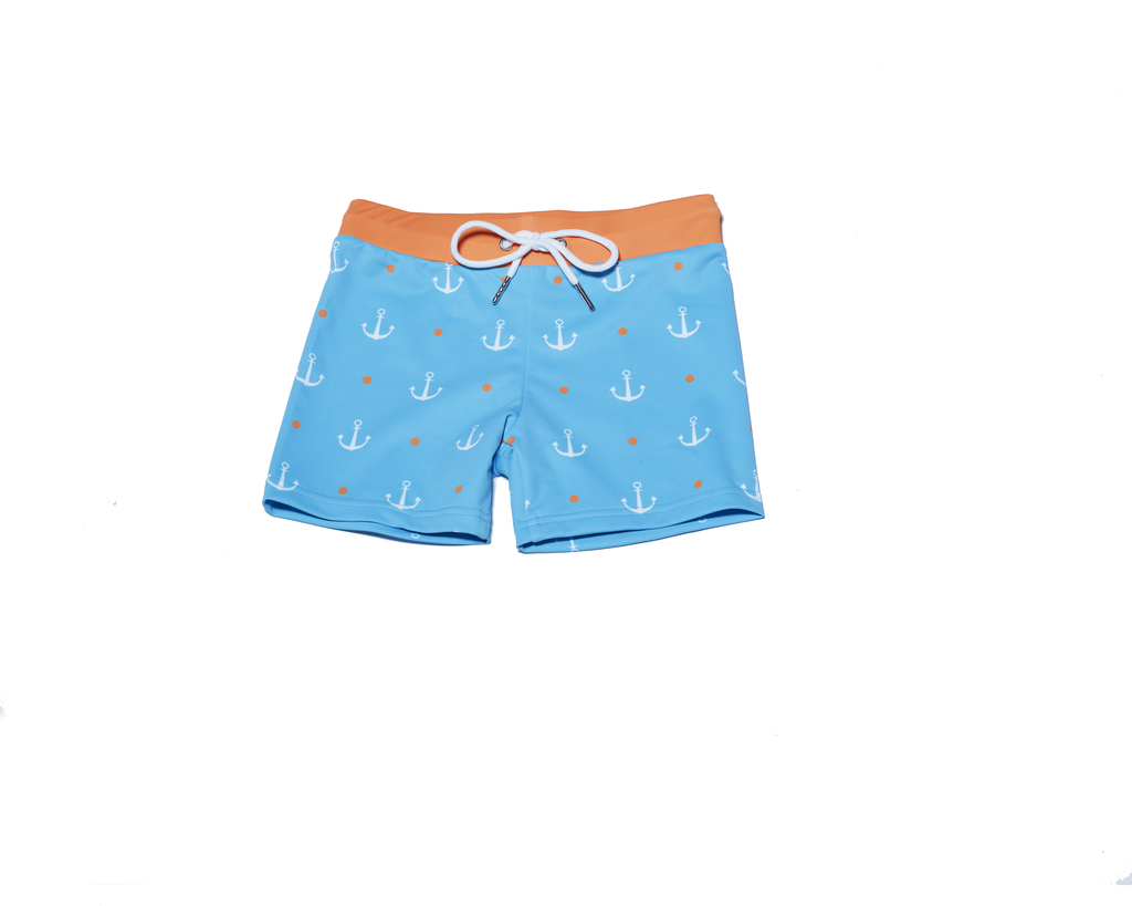 Petit Peony Sweet Cheeks Hilton Head Swim Trunks