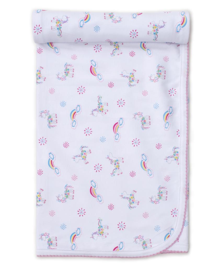 kissy kissy Kissy Kissy Rainbow Unicorns Print Blanket